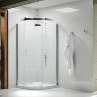 Merlyn Series 10, 1 Door Quad 800mm RH Incl. Tray - Chrome/Clear Glass (MS103211CR)