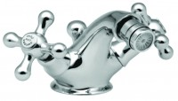 Vado Victoriana Mono Bidet Mixer Deck Mounted With Pop-Up Waste - chrome (VIC-110CD-CP)