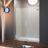Merlyn Series 10, Pivot Door 800mm & Inline Panel 800mm - Chrome/Clear Glass (M101271C)