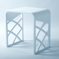 Ice S-Cast Solid Surface Cutwork Stool (SK14035)