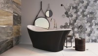 Eton Black Galaxy Freestanding Acrylic Bath (21726)
