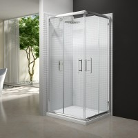 Merlyn Series 6, Corner Door 800mm - Chrome/Clear Glass (M65211)