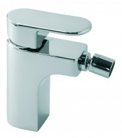 Vado Life Mono Bidet Mixer Smooth Bodied Single Lever Deck Mounted Without Pop-Up Waste - chrome (LIF-110SB-CP)