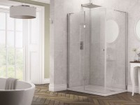 Glyn Frameless Hinged Shower Enclosure (1200mm x 800mm) (15694)