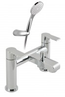 Vado Ion 2 Hole Bath Shower Single Lever Mixer Deck Mounted With Shower Kit - chrome (ION-130-K-CP)