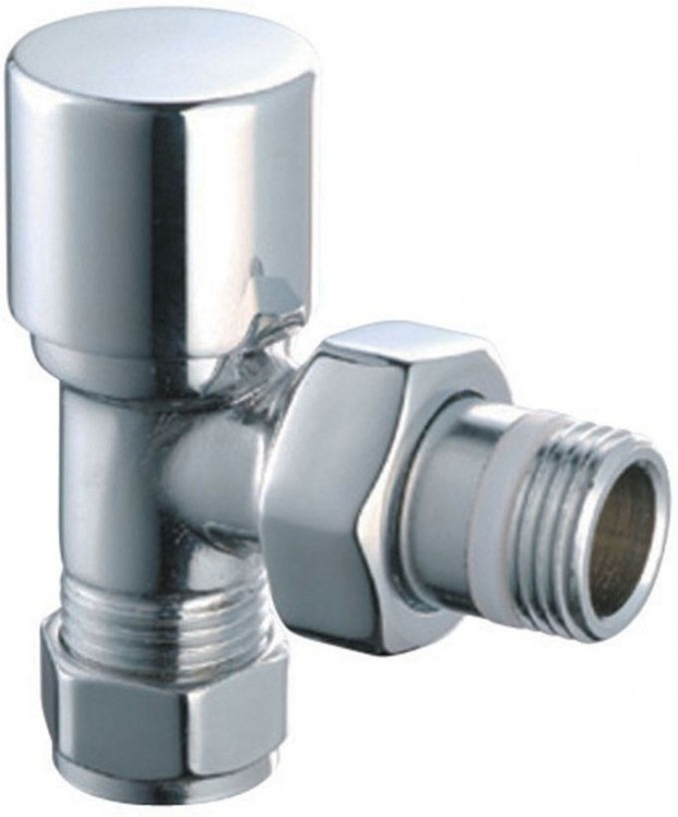 Easy Round Radiator Angled Valves (Pair) (12675)
