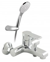 Vado Ion Exposed Bath Shower Mixer Single Lever Wall Mounted With Shower Kit - chrome (ION-123-K-CP)