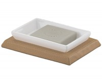 Kyoto Soap Dish - White/Hazelnut (1511-36)