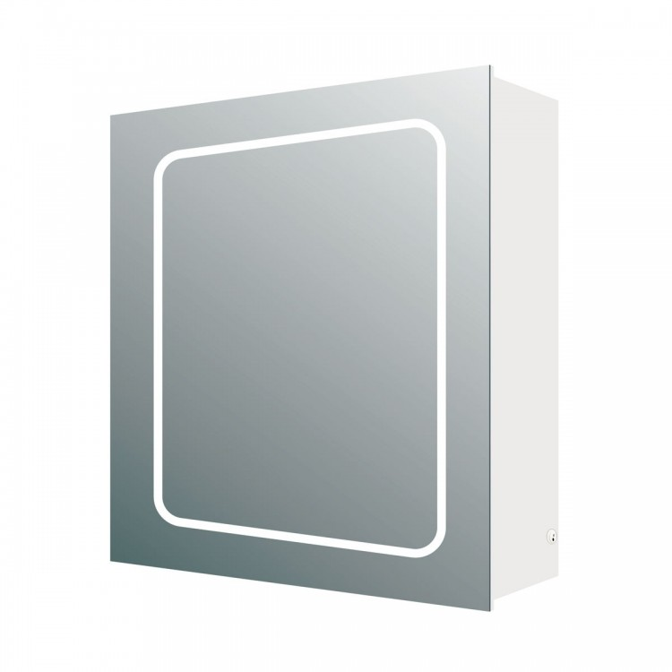 Manor Single Door LED Mirrored Wall Cabinet (21678)