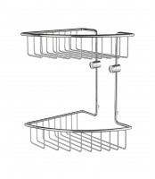 Smedbo Home Soap Basket Two Levels - Chrome (HK377)