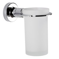 Tecno Project Tumbler Holder - Chrome / Frosted Glass (116935)