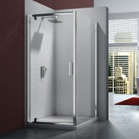 Merlyn Series 6, Pivot Door 700mm - Chrome/Clear Glass (M61201)