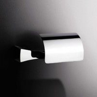 S7 Toilet Roll Holder with Flap - chrome (131853)