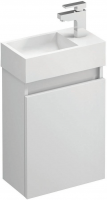 Compact Wall Hung Cloakroom Vanity Unit Gloss White (15446)