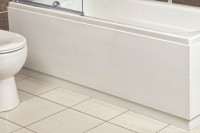Edge Solid MDF Bath panel in Gloss White (EDGE-BP)