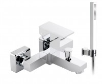 Vado Notion Exposed Bath Shower Mixer Single Lever Wall Mounted With Shower Kit - chrome (NOT-123-K-CP)