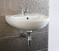 Dorton Wall Hung Basin with Bottle Trap and Tap (24714)