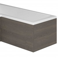 Nante Dark Elm Bath Panel End (for L-Shaped Bath) (17044)
