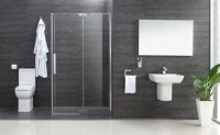 Minimo Hinged Shower Door (1500mm) (17988)