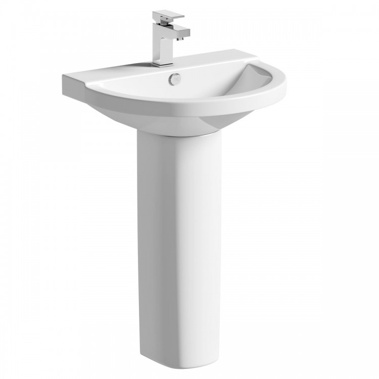 Round pedestal basin ram car phone mount
