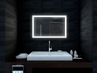 Emley LED Mirror with Demister and Infra Red Sensor (650mm x 600mm) (15345)