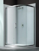 Merlyn Series 6, 1 Door Offset Quad 1000 x 800mm Incl. Tray LH - Chrome/Clear Glass (MS63233L)