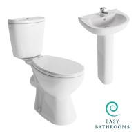 Lisbon Toilet and Basin Suite (standard seat) (23630)