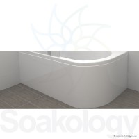 Carron Status 1550mm Showerbath 5mm Panel - White (23-1004)