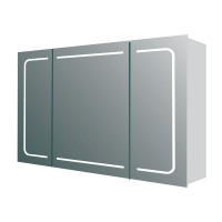 Manor Triple Door LED Mirrored Wall Cabinet (21680)