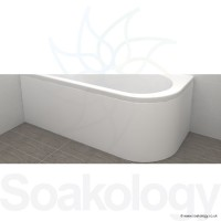 Carron Status 1600 Bath Panel 1600 x 725 x 540mm 5mm - White (23.3461)