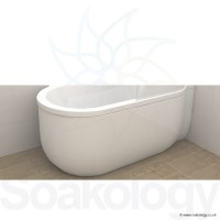 Carron Advantage Deep Bath Panel 5mm LH - White (23.3481L)