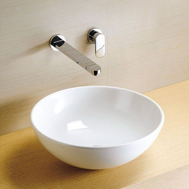 Vanity unit with round bowl rectangle vanity mirror with lights