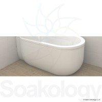 Carron Advantage Deep Bath Panel 5mm RH - White (23.3481R)