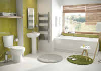 Lisbon Five Piece Bathroom Suite (Including 1700mm x 700mm Bath) (23637)