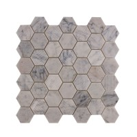Coffee Stone Hexagon Marble mosaic 300 x 300mm (21146)